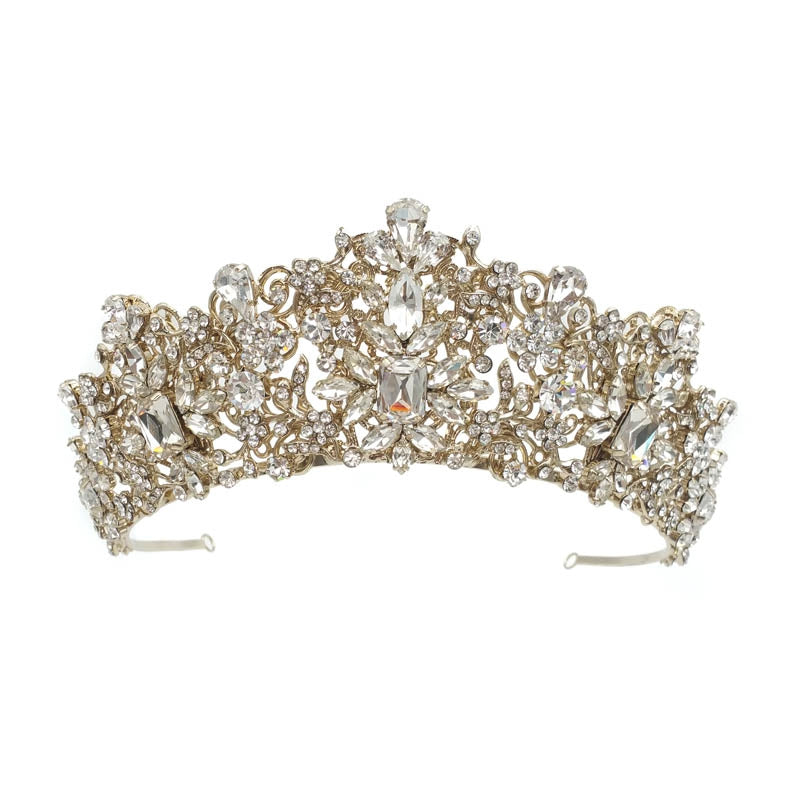 Taylor Crystal Crown (Champagne Gold Plated)