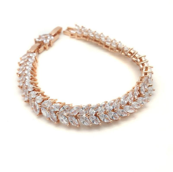 Zoe - Marquise Cut Double Row Bracelet