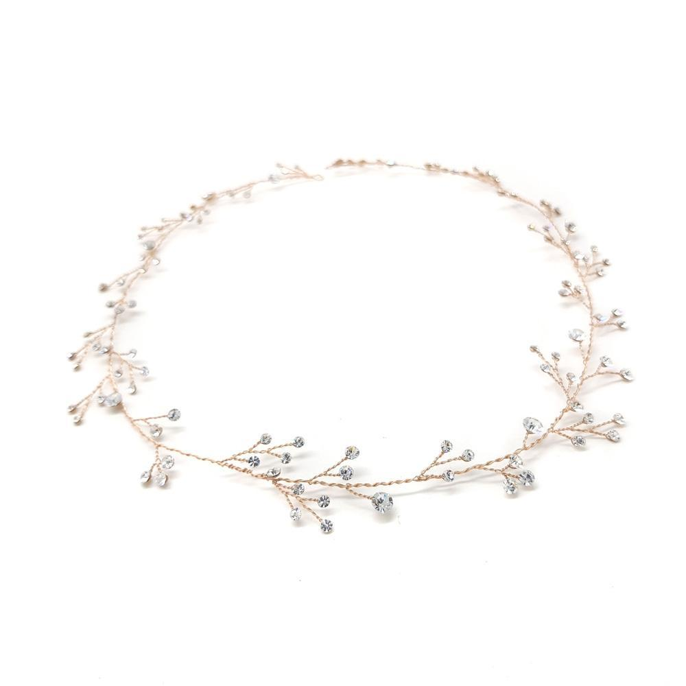 Vivian - Crystal Hair Vine (Silver/Rose Gold)