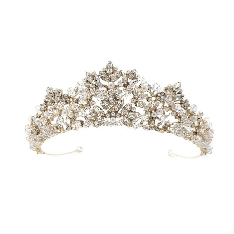Roesia - Crystal & Pearl Crown
