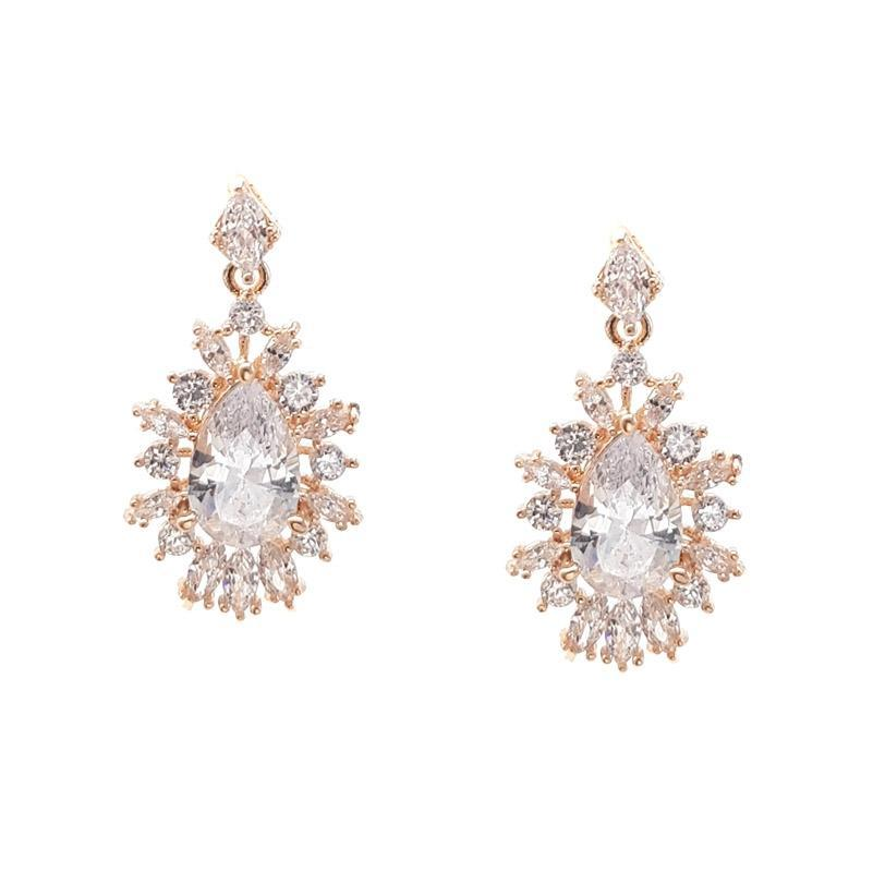 Renee - Tear Drop & Marquise Bridal Earrings
