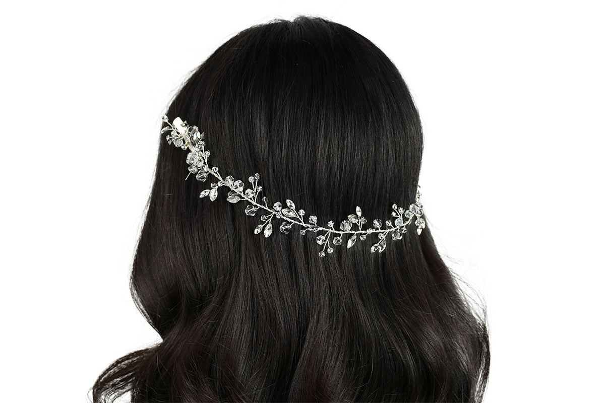 Cleo - Crystal and Clear Beaded Vine