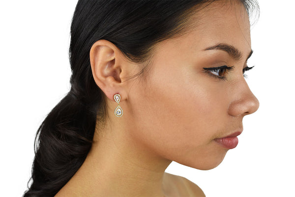 Grace - Modern Small Crystal Teardrop Earring