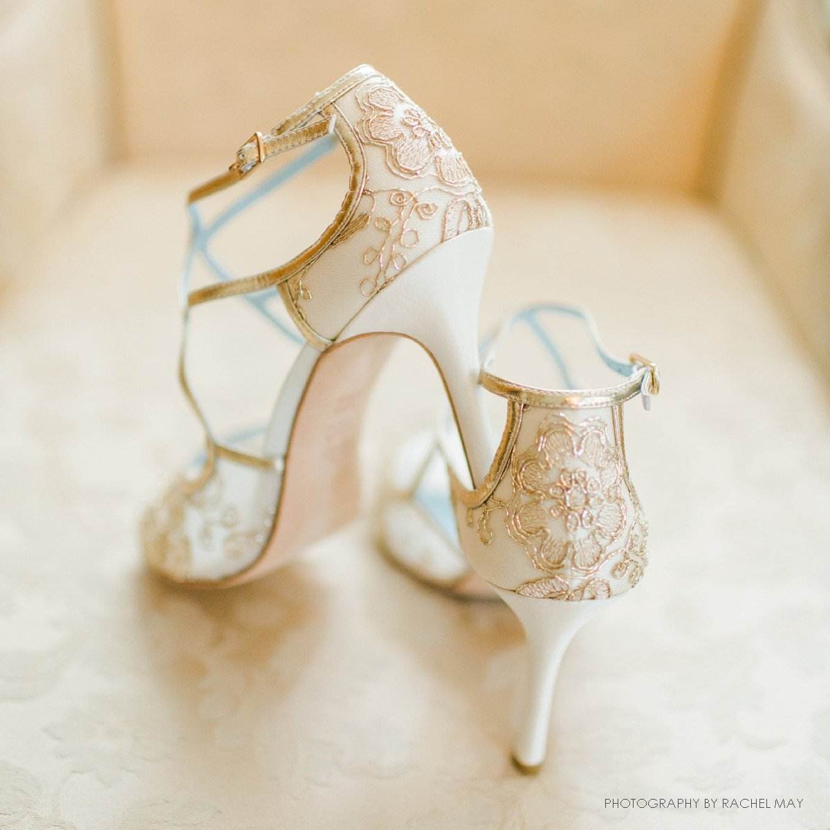 Bella Belle - Tess - Gold Lace Wedding Shoes