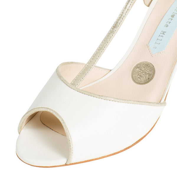 Charlotte Mills Low Heel Bridal Shoes Australia - Ameli
