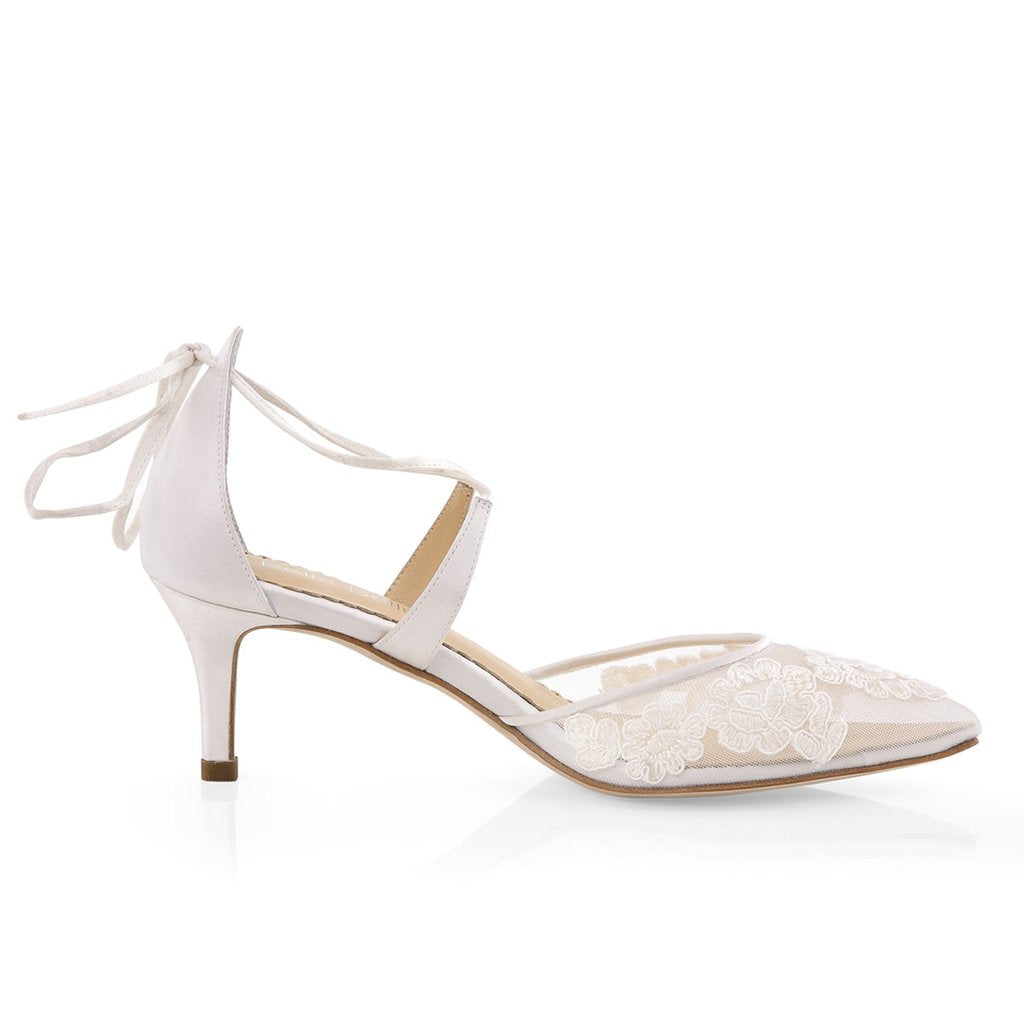 innovative design best selling new lower prices Amelia - Kitten Heel Lace wedding Shoes