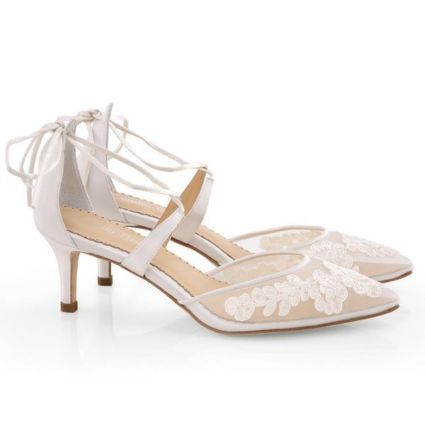 Bella Belle - Amelia - Kitten Heel Lace wedding Shoes - Wedding Shoes Sydney