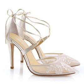 Bella Belle - Anita - Ivory Lace Shoes - Wedding Shoes Sydney