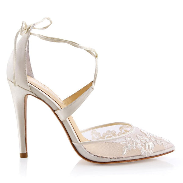 f40469f2fa12 Anita - Ivory Lace Shoes Bella Belle - Anita - Ivory Lace Shoes - Wedding  Shoes Sydney