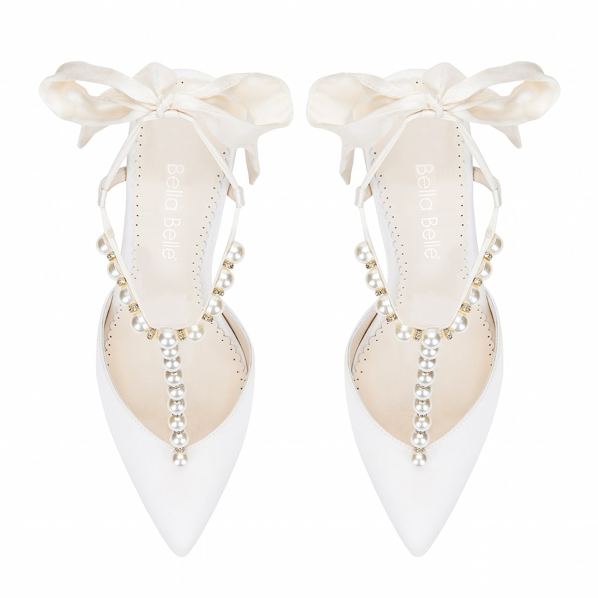 Lisbeth - Ivory Pearl & Crystal Shoes