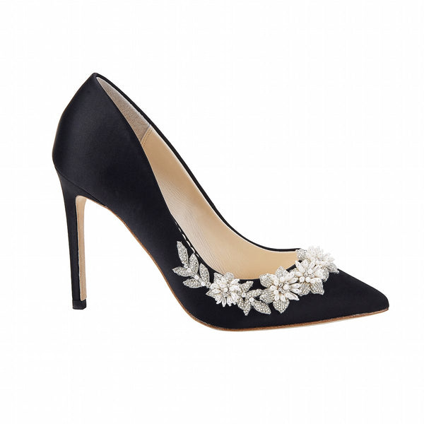 Jasmine - Black Embellished Pumps