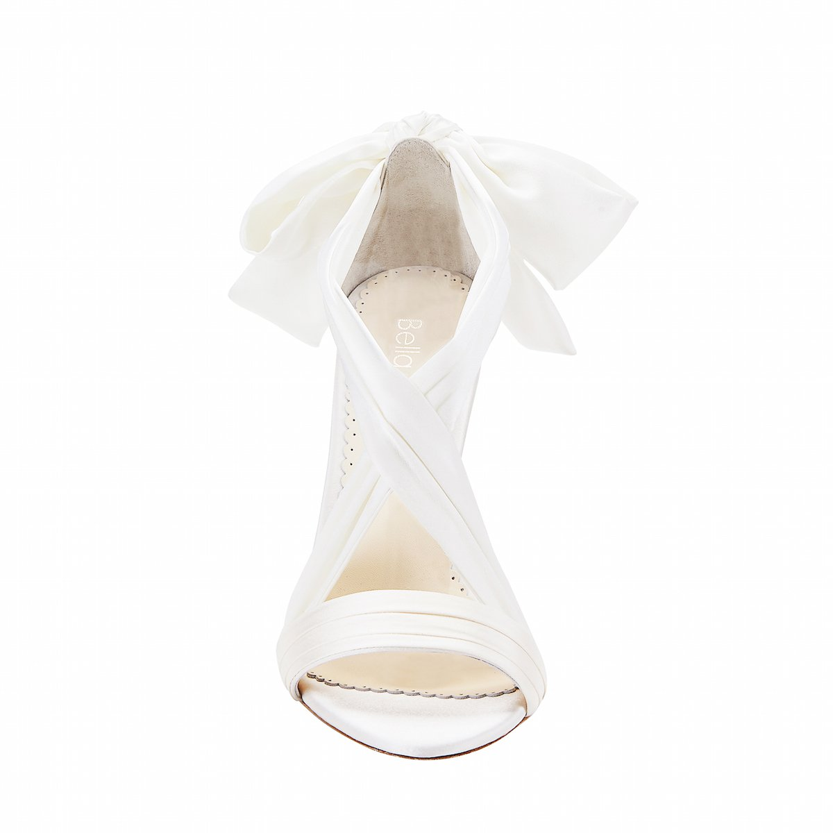 Kate - Ivory Silk Ribbon Heels