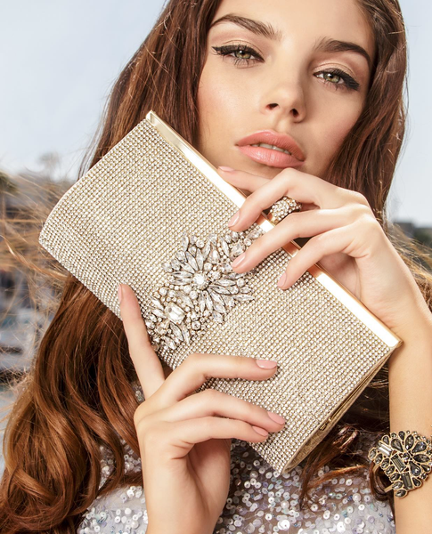 Badgley Mischka Clutch - Alisha Silver
