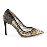 Elsa - BLACK - Sequin Crystal Wedding Shoes
