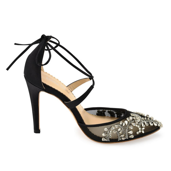 Florence - Black -Crystal Embellishment