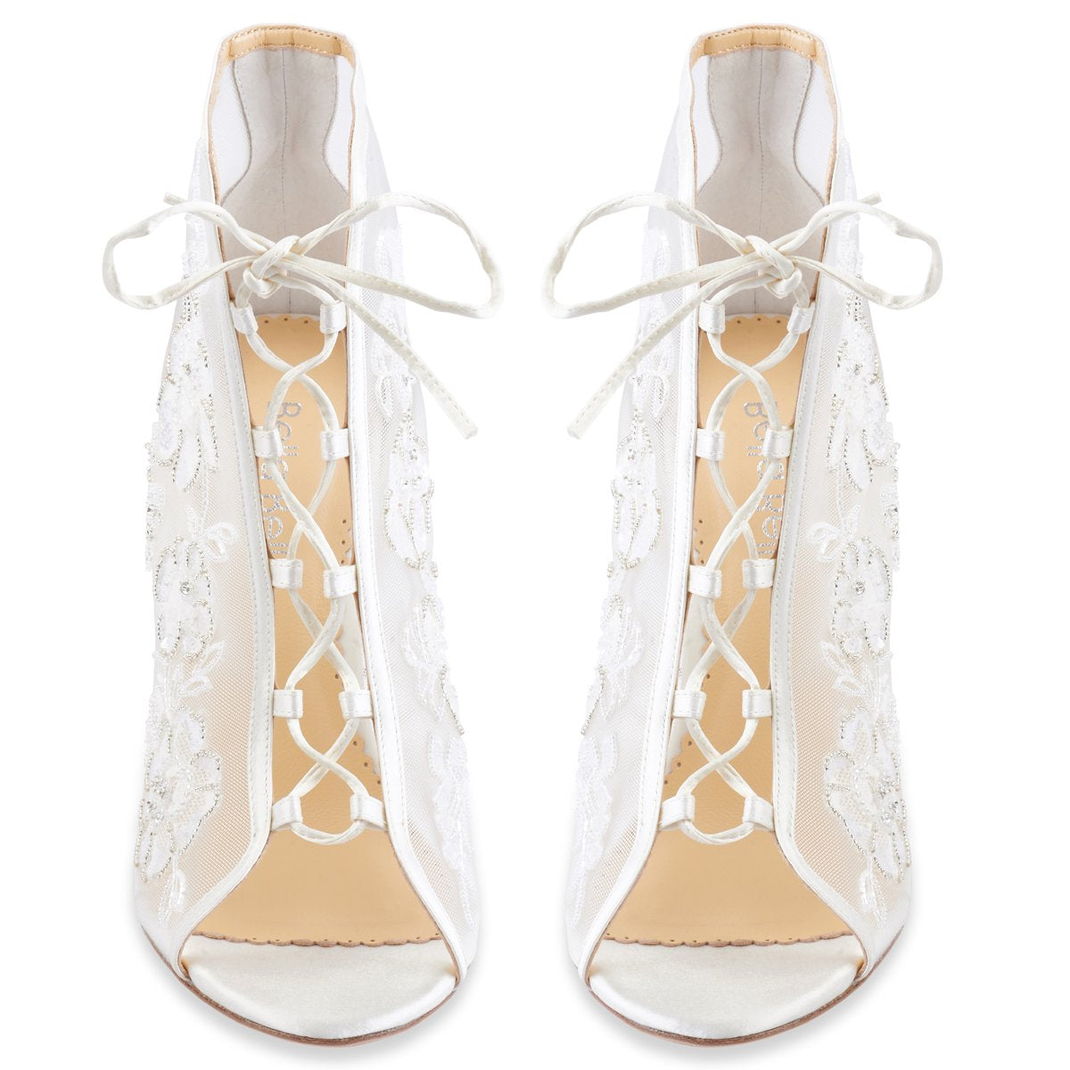 Angelina - Ivory Lace Bootie