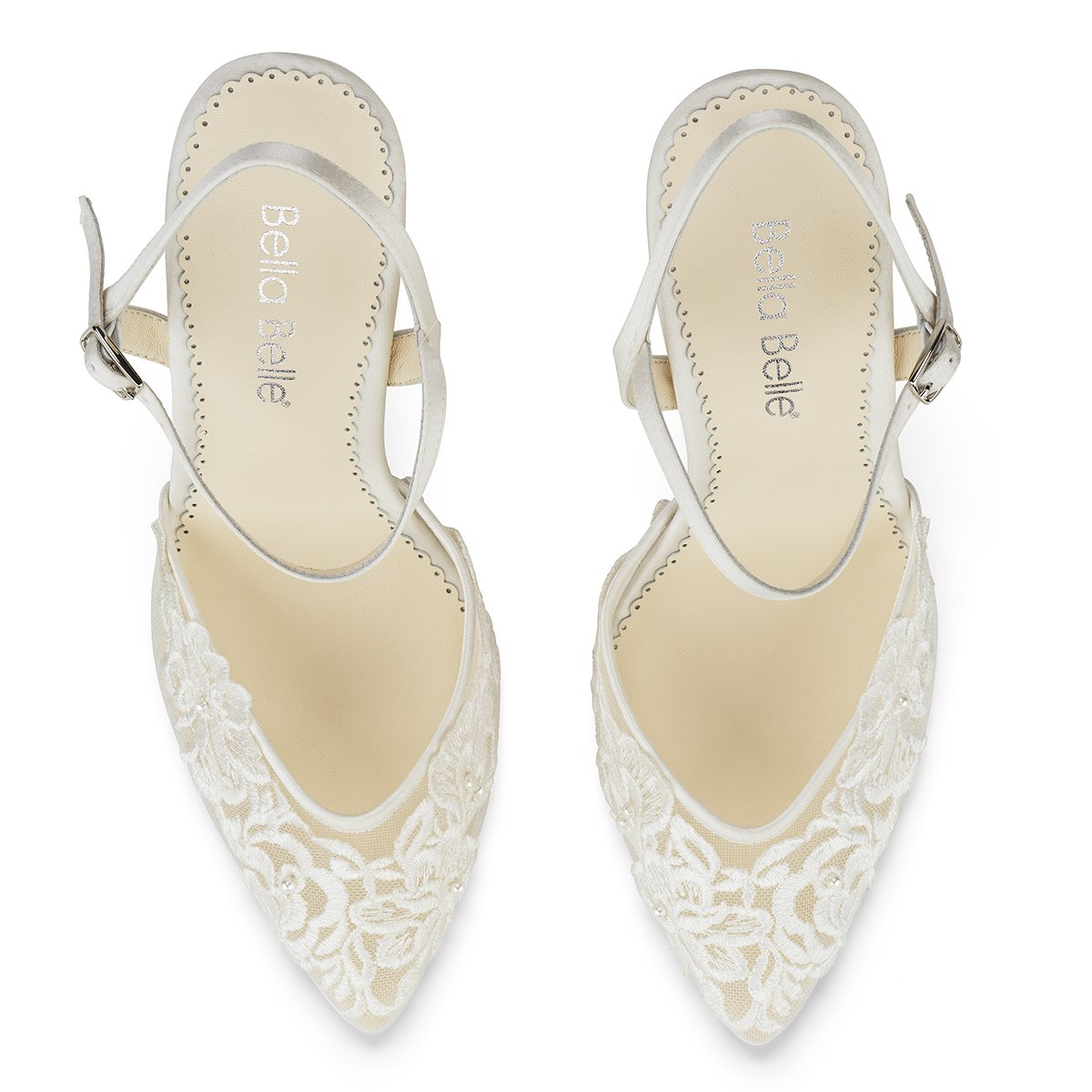 Maya - Ivory Pearl and Lace Heel