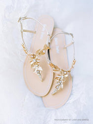 Agatha - Gold Grecian Wedding Sandals