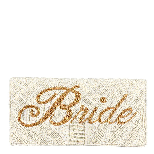 Bride Foldover Clutch by From St Xavier Wedding Shoes