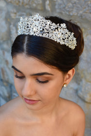 Victoria - Crystal & Swarovski Beaded Crown