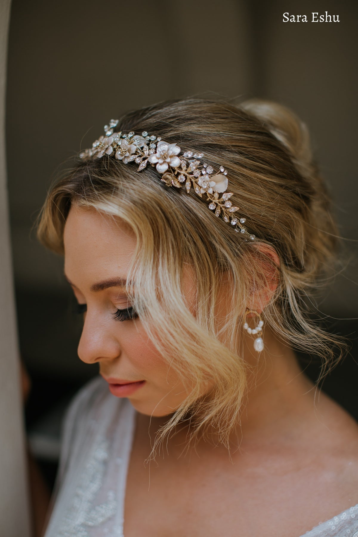 Elsie - Floral Crown (Silver, Gold, Rose Gold)