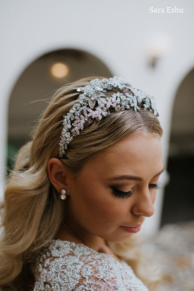 Eliza - Double Layer Crystal Crown