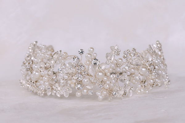 Eden - Pearlised Crystal Headband