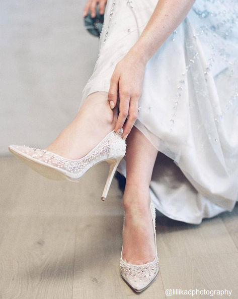 Elsa - Sequin Crystal Wedding Shoes