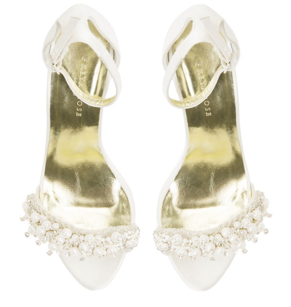 FeFe Queen - Crystal and Pearl Platform Sandal