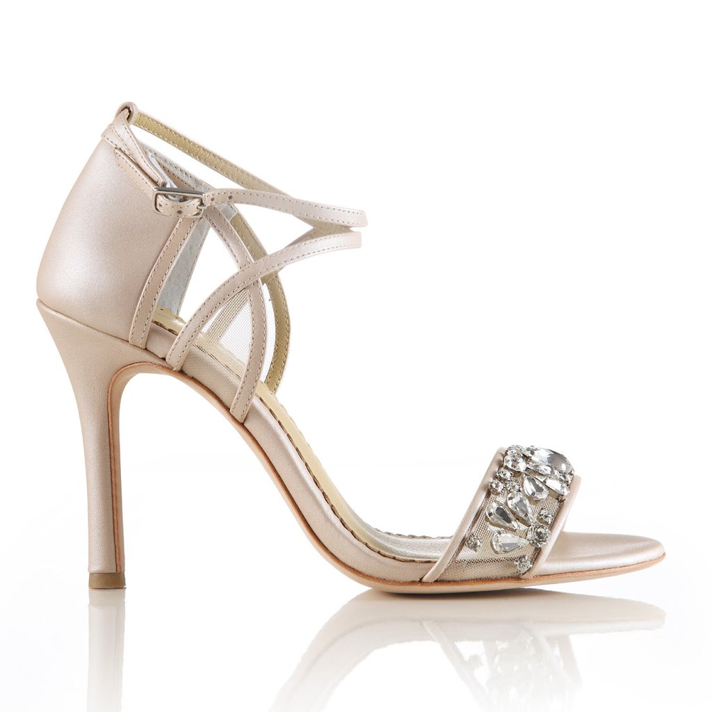 Bella Belle - Filipa - Nude Jewel Toe Bridesmaid Shoes  The White Collection Au-8454