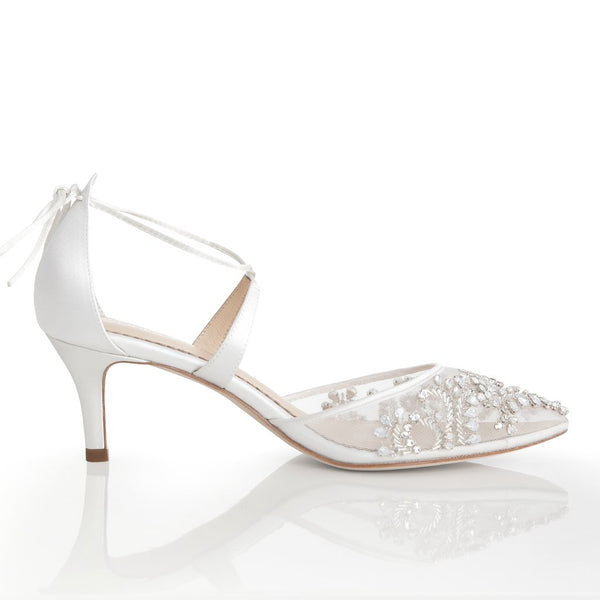 Bella Belle - Frances - Crystal Embellished Kitten Heel - Wedding Shoes Sydney