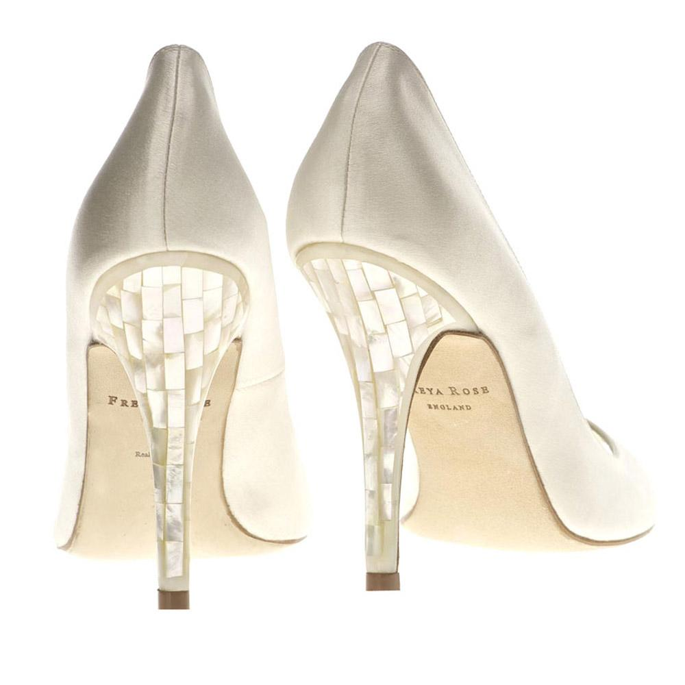 Della Sky - Peep Toe with Mother of Pearl Heel