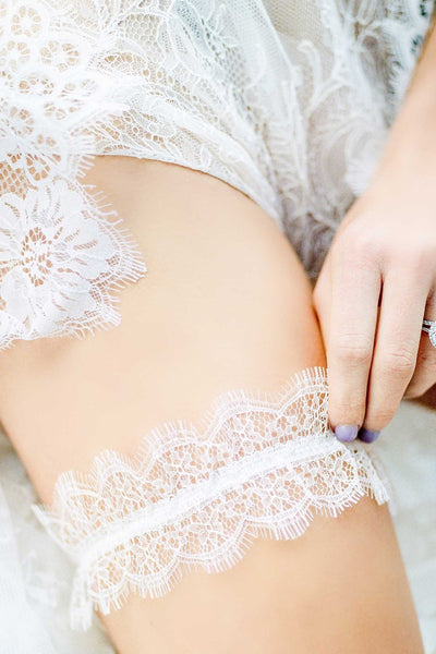 Flora French Lace Garter