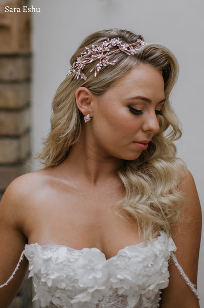 Harlow - Pear & Marquise Bridal Earrings