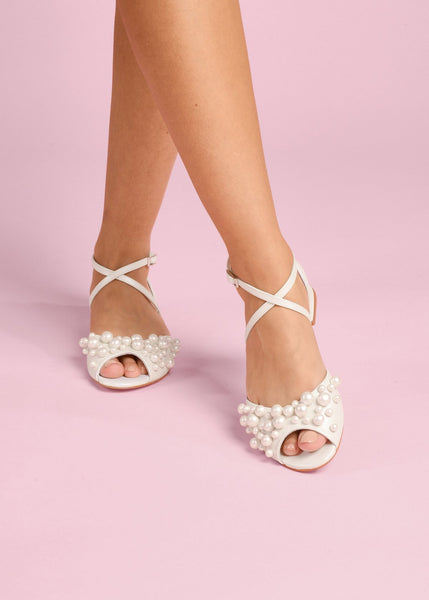 Hen - Pearl by Charlotte Mills Wedding Shoes