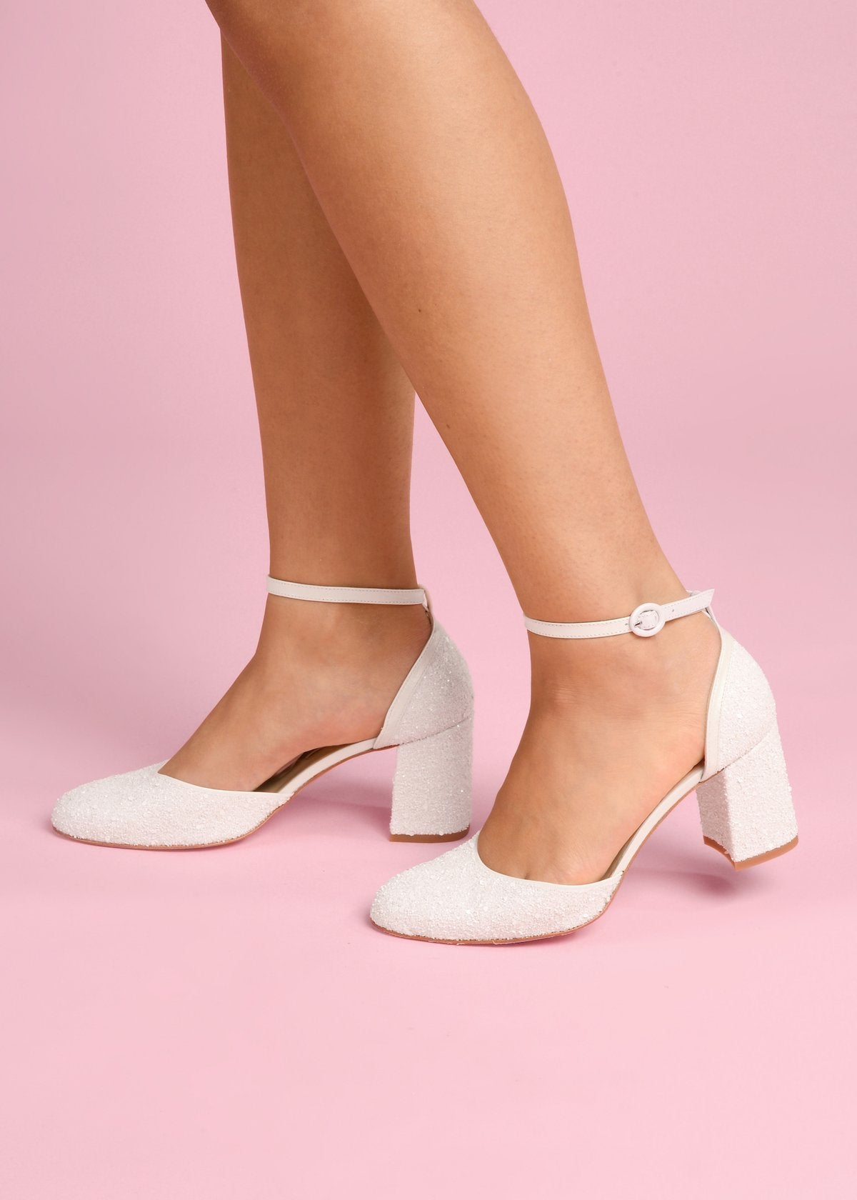 Jazzy - Pearl by Charlotte Mills Wedding Shoes