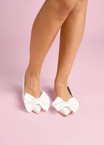 Joy - Pearl Bow by Charlotte Mills Wedding Shoes