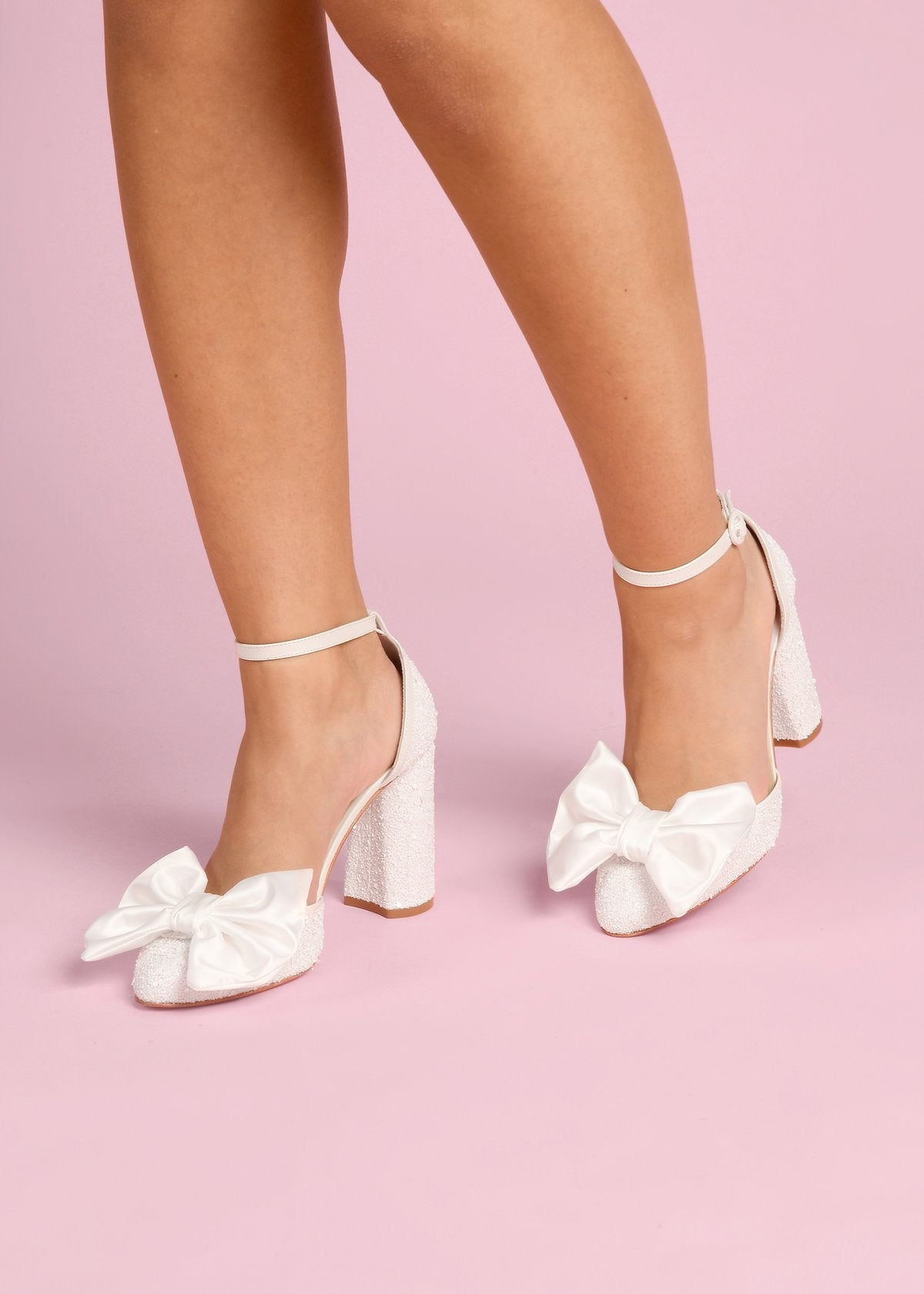 Juniper - Pearl Bow by Charlotte Mills Wedding Shoes