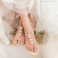 Bella Belle - Gold Beach Wedding Sandals Sydney - Luna