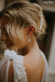 Maeve - Tear Drop Bridal Earrings