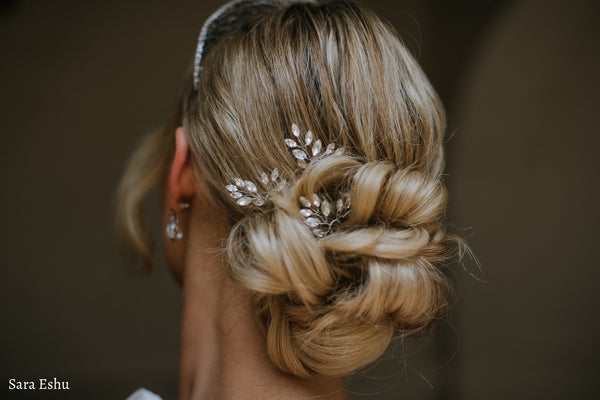 Marquise Crystal Hair Pin Trio