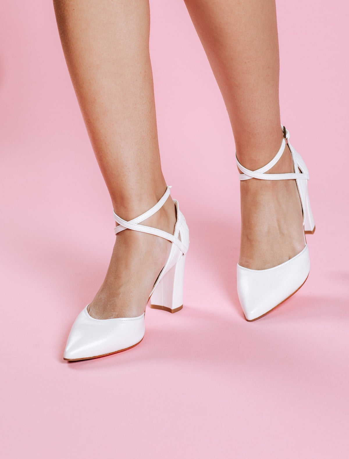 Meggy - Ivory Leather Wide Fit