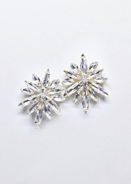 Gold and Crystal Starburst Earrings