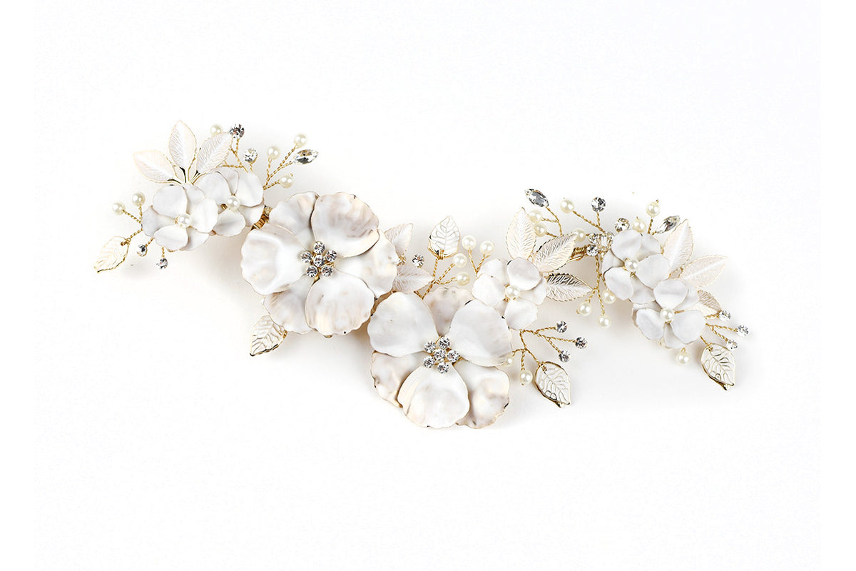 Molly - Large Floral Clip (Silver, Gold, Rose Gold)
