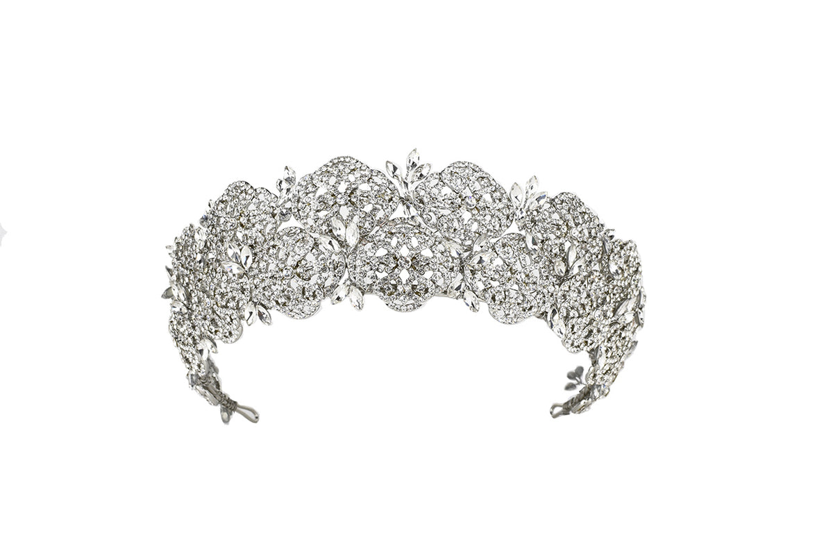 Scarlette - Crystal Double Banded Crown