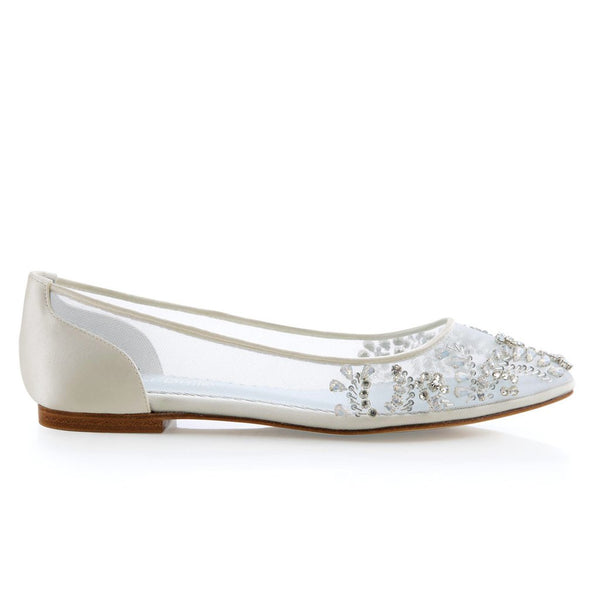 Bella Belle Flats - Flat Wedding Shoes Sydney - Bella Belle - Willow - Flats