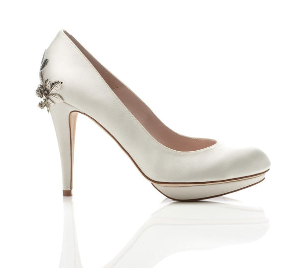 Harriet Wilde - Bridgette Silver Rose - Wedding Shoes Sydney
