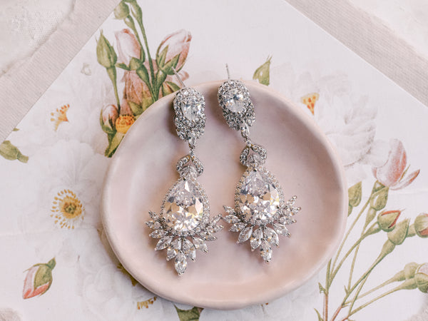 Camilla - Chandelier Statement Bridal Earrings
