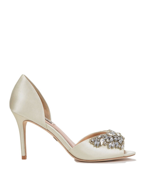 Badgley Mischka Sydney - Jewel Cluster Wedding Shoes - Candance - Ivory