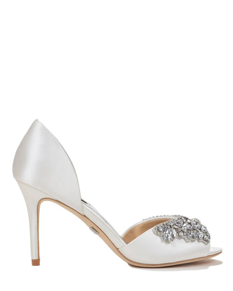 Badgley Mischka Sydney - Jewel Cluster Wedding Shoes - Candance - White